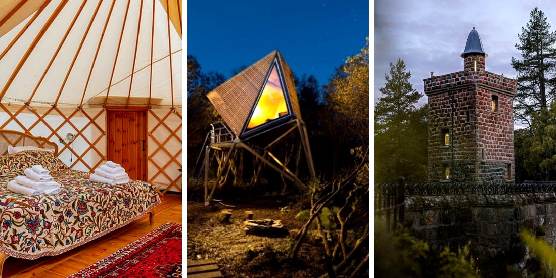 7 Unique Stays In The UK | From Mongolian Yurts to Treehouses